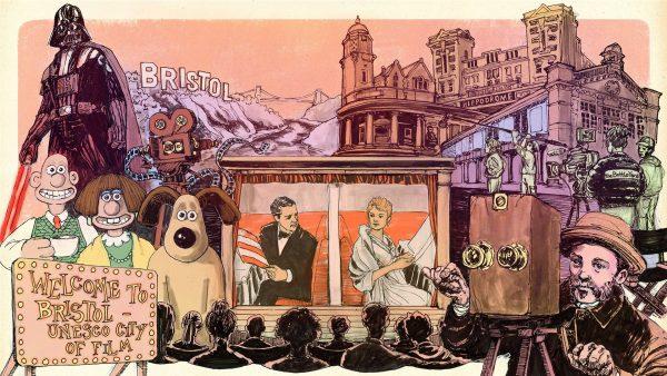 Bristol Film 2021 illustration by Willem Hampson