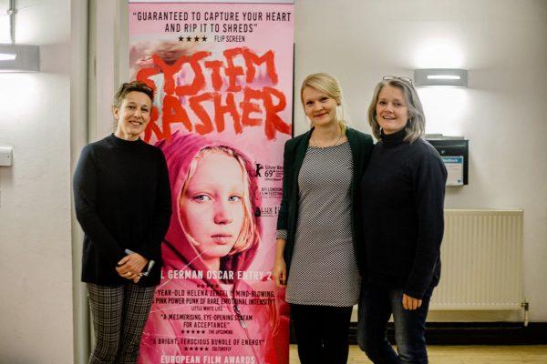 Bait Producers Kate Byers Linn Waite with System Crasher Producer Frauke Kolbmuller. Photo credit: Chelsey Cliff