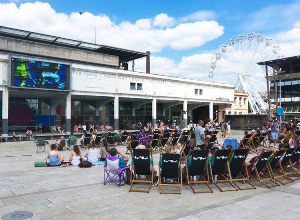 Big Screen on Bristol's Millennium Square