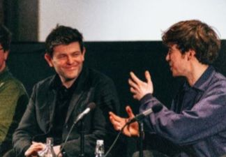 Toby Macdonald and Alex Lawthor during Old Boys Q&A at Widening the Lens 2019